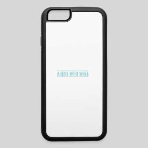 AliensWithWigs-Logo-Bleu - iPhone 6/6s Rubber Case