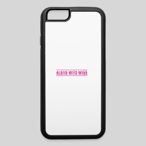 AliensWithWigs-Logo-Rose - iPhone 6/6s Rubber Case