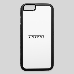 AliensWithWigs-Logo-Noir - iPhone 6/6s Rubber Case
