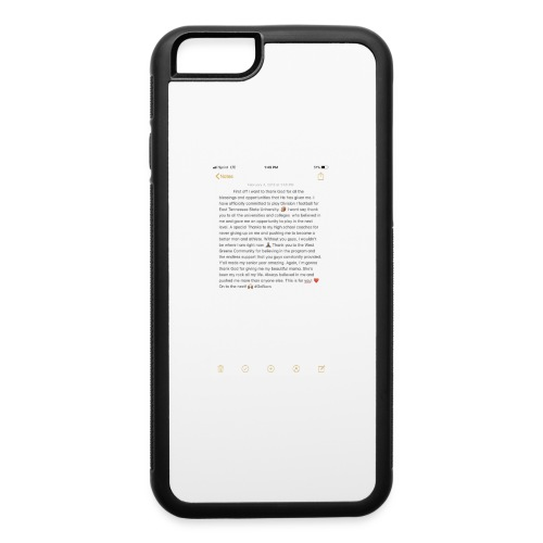 Text from a Football Commit - iPhone 6/6s Rubber Case