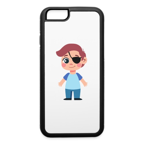 Boy with eye patch - iPhone 6/6s Rubber Case