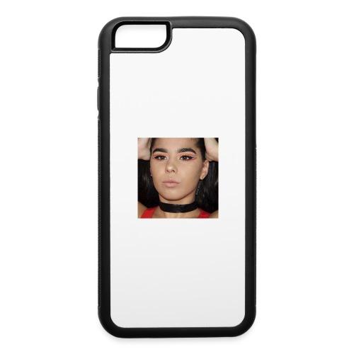 Orange & Black Cut Crease - iPhone 6/6s Rubber Case