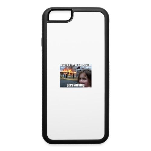 McDonalds Disaster Girl Meme Phone Case - iPhone 6/6s Rubber Case