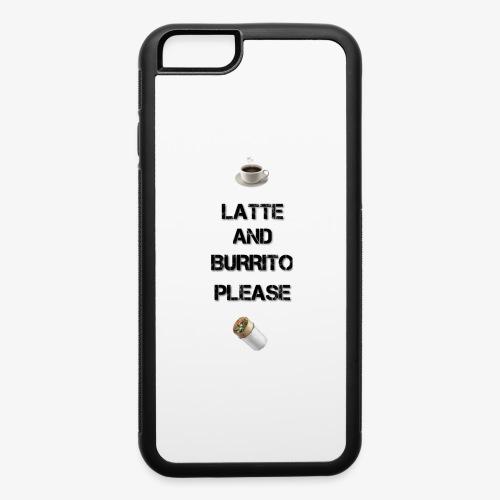 Latte and burrito please - iPhone 6/6s Rubber Case