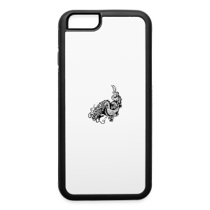 24019358 dragon black and white illustration - iPhone 6/6s Rubber Case