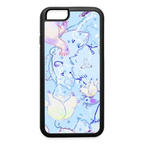 Blue Polar Bear Dance - iPhone 6/6s Rubber Case