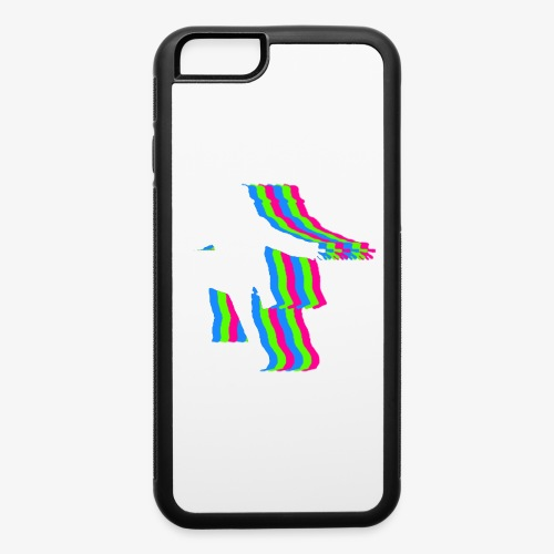 silhouette rainbow cut 1 - iPhone 6/6s Rubber Case