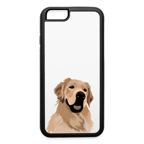 Hand illustrated golden retriever print / goldie - iPhone 6/6s Rubber Case
