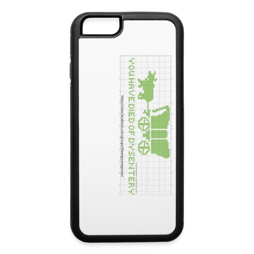 oregon trail finished chart2 - iPhone 6/6s Rubber Case