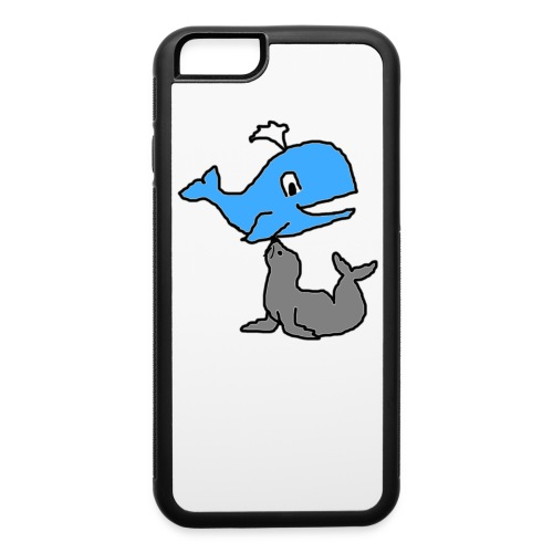 whale and seal - iPhone 6/6s Rubber Case