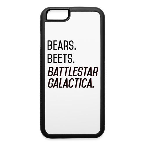 Bears. Beets. Battlestar Galactica. (Black & Red) - iPhone 6/6s Rubber Case