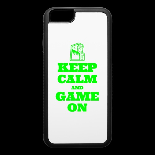 Keep Calm and Game On | Retro Gamer Arcade - iPhone 6/6s Rubber Case