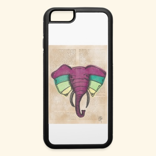Elephant Water Color Face - iPhone 6/6s Rubber Case