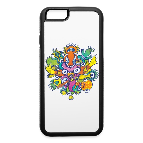 Dont let this evil monster gobble our friend - iPhone 6/6s Rubber Case