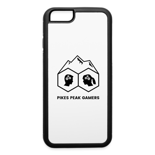 Pikes Peak Gamers Logo (Transparent Black) - iPhone 6/6s Rubber Case