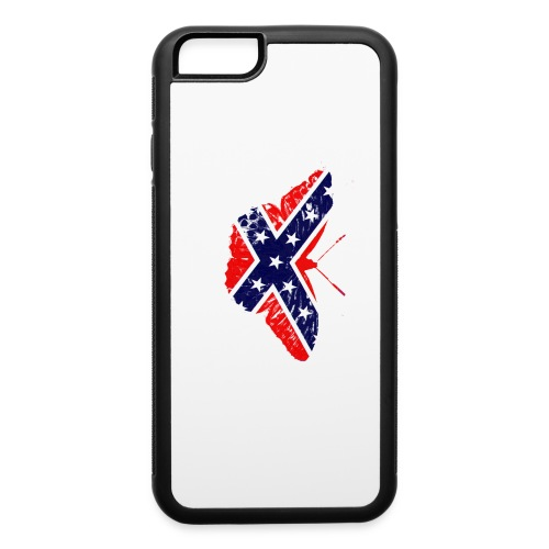butterfly - confederate flag - iPhone 6/6s Rubber Case