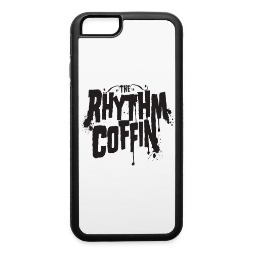 the rhythm coffin black logo - iPhone 6/6s Rubber Case