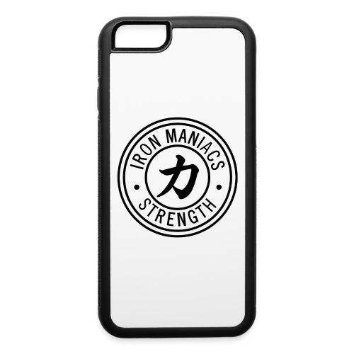 Iron Maniacs Logo - black - iPhone 6/6s Rubber Case