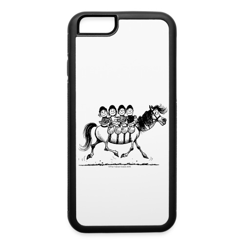Gang of four Thelwell Cartoon - iPhone 6/6s Rubber Case