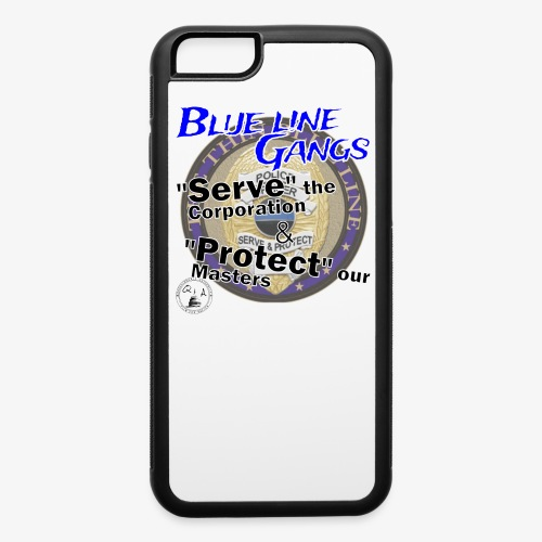Thin Blue Line - To Serve and Protect - iPhone 6/6s Rubber Case