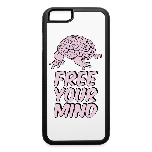 Free Your Mind Funky Frog Design - iPhone 6/6s Rubber Case