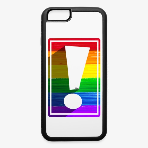 LGBTQ Pride Exclamation Point - iPhone 6/6s Rubber Case