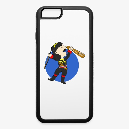 Cartoon - Pontian Holding Lyra/Blue Background - iPhone 6/6s Rubber Case