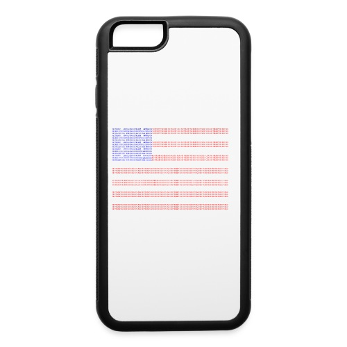 no trump no kkk USA flag - iPhone 6/6s Rubber Case