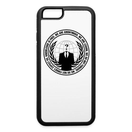 Anonymous Logo With Slogan png - iPhone 6/6s Rubber Case