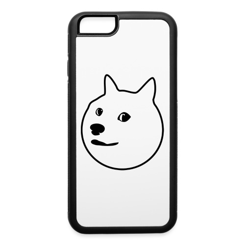Black-Outlined Doge - iPhone 6/6s Rubber Case