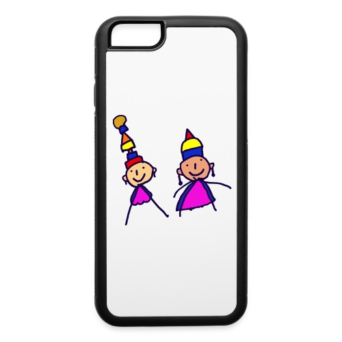 2 girls in hat - iPhone 6/6s Rubber Case