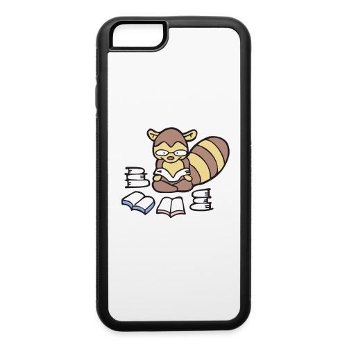 Reading Raccoon - iPhone 6/6s Rubber Case