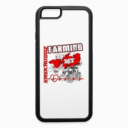 saskhoodz farming - iPhone 6/6s Rubber Case