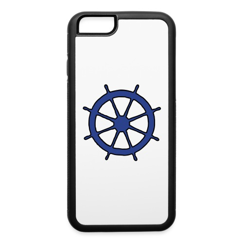Steering Wheel Sailor Sailing Boating Yachting - iPhone 6/6s Rubber Case