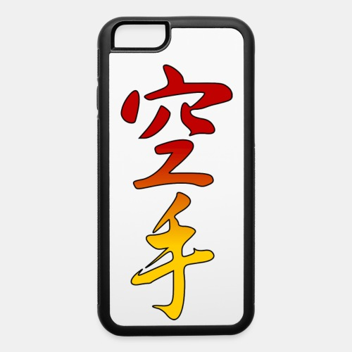 Karate Kanji Red Yellow Gradient - iPhone 6/6s Rubber Case