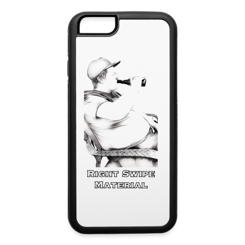 Right Swipe Material - iPhone 6/6s Rubber Case