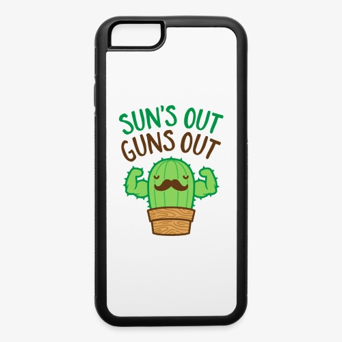 Sun's Out Guns Out Macho Cactus - iPhone 6/6s Rubber Case