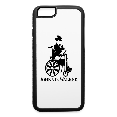 Johnnie Walked, Wheelchair fun, whiskey and roller - iPhone 6/6s Rubber Case
