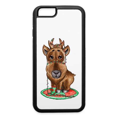 reindeer refined scribble - iPhone 6/6s Rubber Case