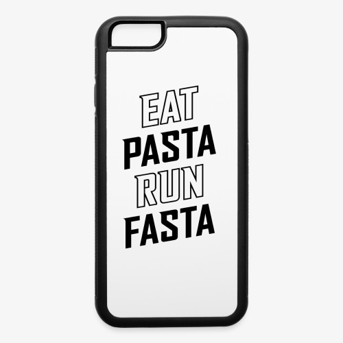 Eat Pasta Run Fasta v2 - iPhone 6/6s Rubber Case