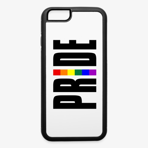Vertical Pride with LGBTQ Pride Flag - iPhone 6/6s Rubber Case