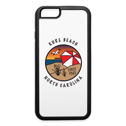 Kure Beach Sunrise-Black Lettering-Front Only - iPhone 6/6s Rubber Case