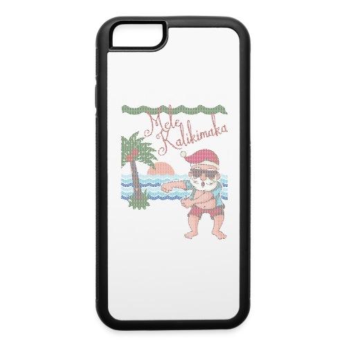 Ugly Christmas Sweater Hawaiian Dancing Santa - iPhone 6/6s Rubber Case