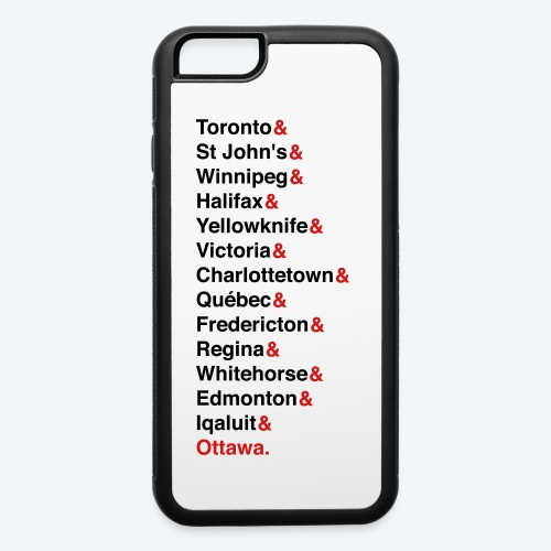 Canada's Capitals - Red & Black - iPhone 6/6s Rubber Case