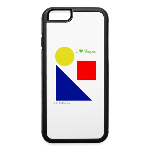 Hi I'm Ronald Seegers Collection-I Love Shapes - iPhone 6/6s Rubber Case