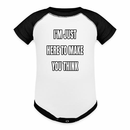 IJHTMYT (White Font) - Contrast Baby Bodysuit