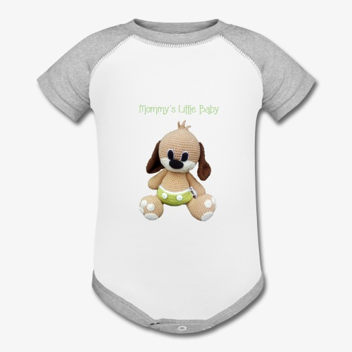 Puppy in a diaper - Baby Contrast One Piece