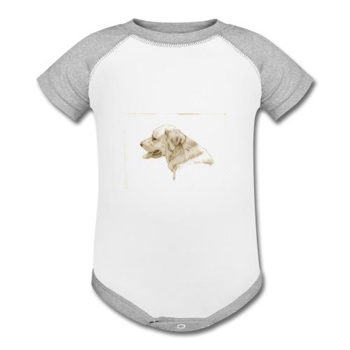Dog TShirt - Contrast Baby Bodysuit