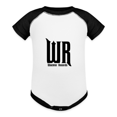 Wachler Records Dark Logo - Baseball Baby Bodysuit