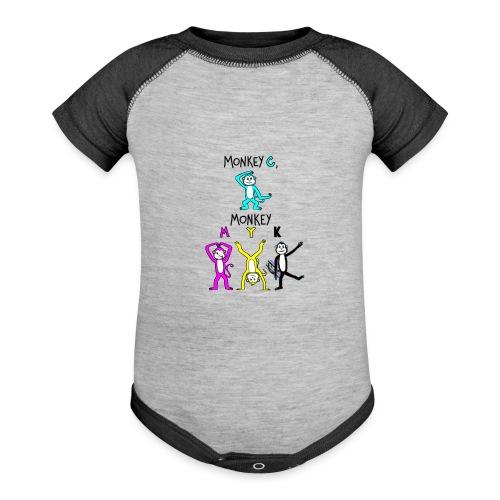 monkey see myk - Contrast Baby Bodysuit